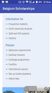 Belgium Scholarships - náhled
