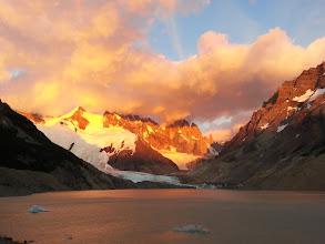 Photo: Sun blazing through Cerro Torre