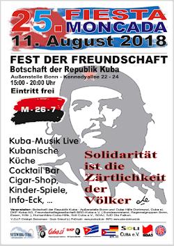 Plakat: 25. Fiesta Moncada 11. August 2018.