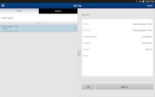 Screenshot of Amegy Business Mobile Banking