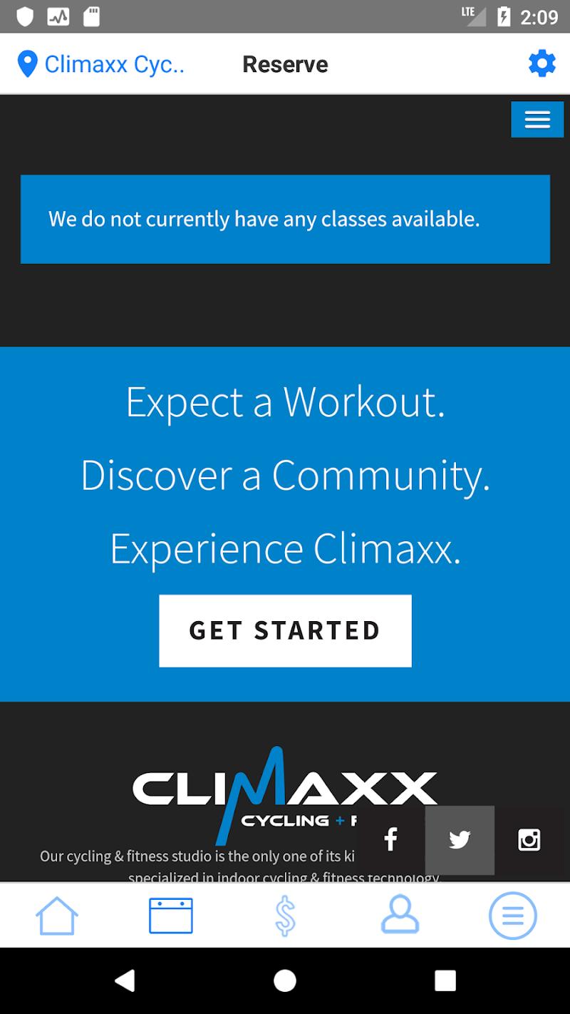 Скриншот Climaxx Cycling & Fitness