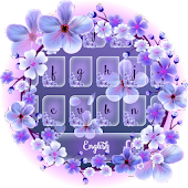 Purplish Cherry Blossom Keypad