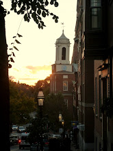 Photo: Sunset as seen from Mt. Vernon Street.