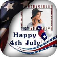 4th July GIF Photo Frame / 4th of July Photo Frame