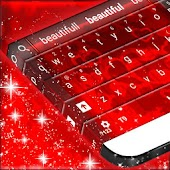 Stylish Red Love Keyboard