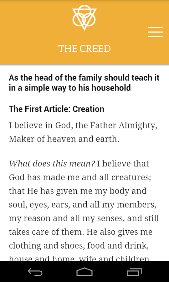 Luther's Small Catechism- screenshot