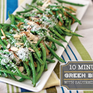 Under 10 Minute Microwaved Green Beans with Sauteed Fennel