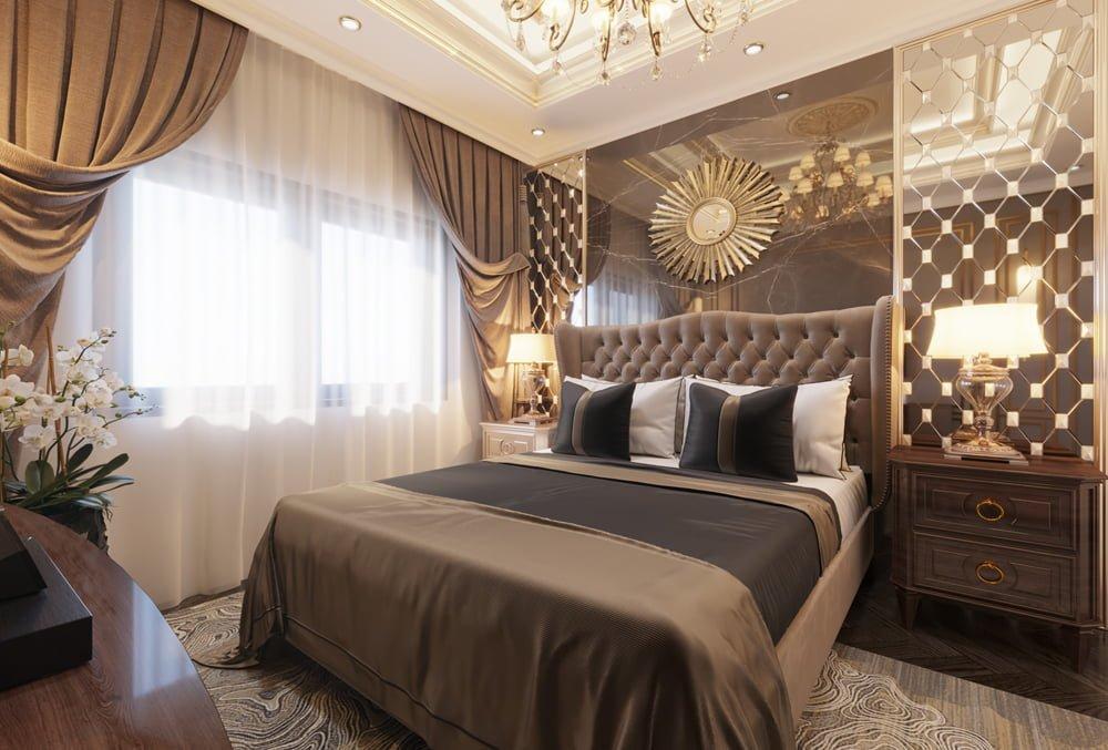 Phòng ngủ của biệt thự với phong cách tân cổ điển