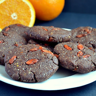 Chocolate-Orange-Goji Cookies (*No-Bake or Baked)