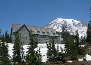 Photo: Paradise Inn mit Mt. Rainier