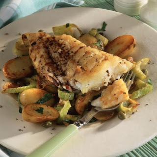 Pan Fried Cod with Potatoes and Fennel.
