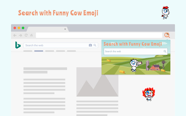 Search with Funny Cow Emoji