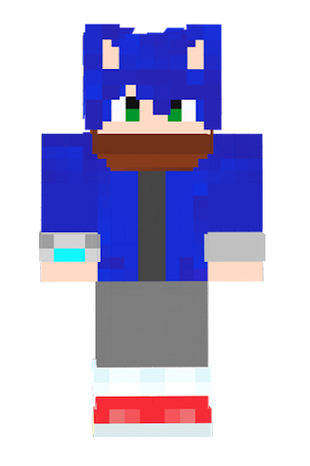 Free Download SONIC Skin For MINECRAFT PE APK Android Apps - Skins para minecraft pe tablet