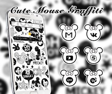 Download Nette Schwarzweiss Graffiti Thema 3d Maus Apk 1 1 1 Apk Fur