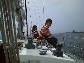 Photo: スタート海面に向かう