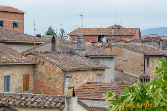 Photo: Castel del Piano rooftops from Villa Aureli