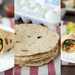Spinach, Feta & Egg Breakfast Wrap