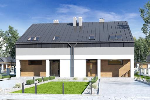 projekt Mazur bez garażu bliźniak B-BL1