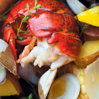 Traditional Backside Clambake with Lobster.