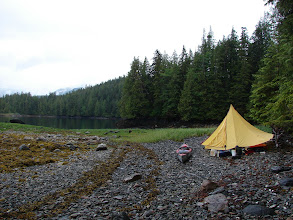 Photo: My campsite in Nabannah Bay near Evening Point on Grenville Channel.