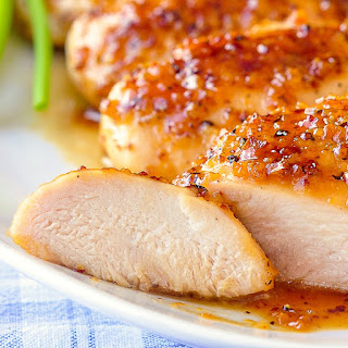Honey Dijon Garlic Chicken Breasts.