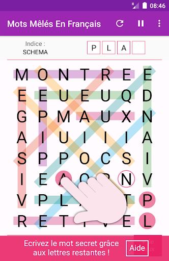 Mots Mêlés Français Gratuits APK MOD – ressources Illimitées (Astuce) screenshots hack proof 2