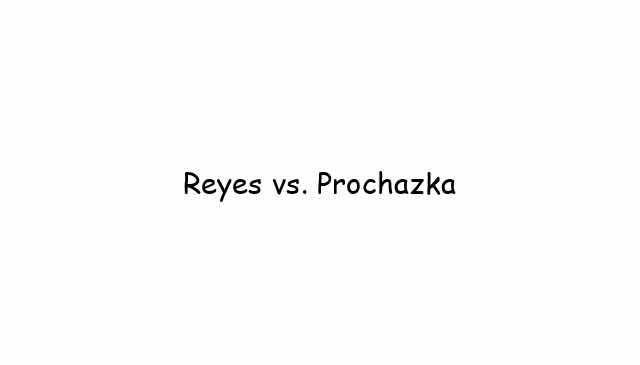 Reyes vs. Prochazka