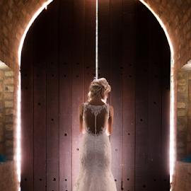 The Door by Lood Goosen (LWG Photo) - Wedding Bride ( doors, wedding photography, wedding photographers, wedding day, weddings, wedding, brides, wedding dress, wedding photographer, bride, light )