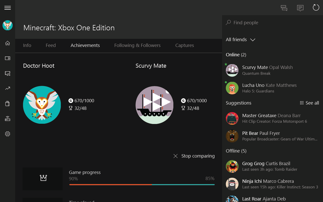 Screenshots of Xbox for iPhone