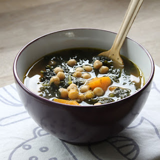 Kale, Chickpea And Sweet Potato Soup