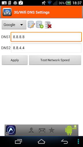 3G Wifi DNS Settings