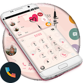 Glass Paris Phone Dialer Theme