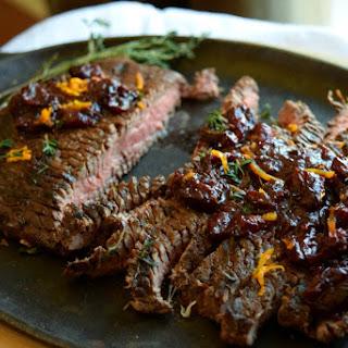 Grilled Cranberry-Orange Flank Steak for Holidays.