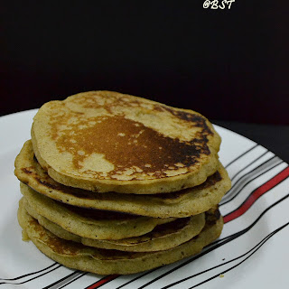 Wholewheat Flax Pancakes.