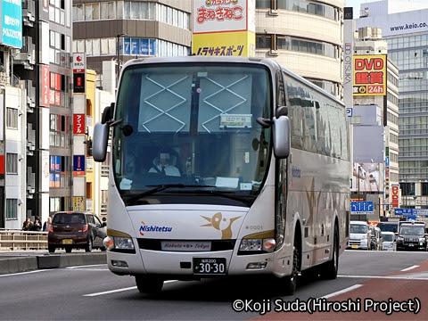 西鉄「はかた号」 0001 バスタ新宿付近にて