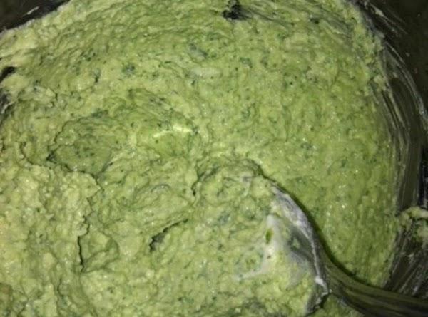 In a food processor add 1 large clove of Garlic,Feta cheese,cream cheese,(Basil,optional) Garlic salt,and...