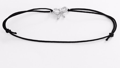 bracelet noeud strassé