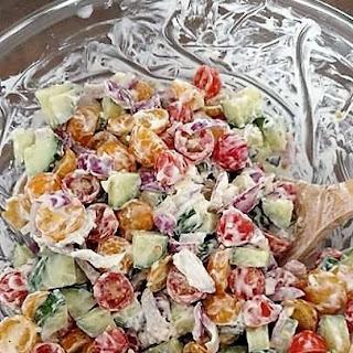Creamy Tomato & Cucumber Salad Recipe