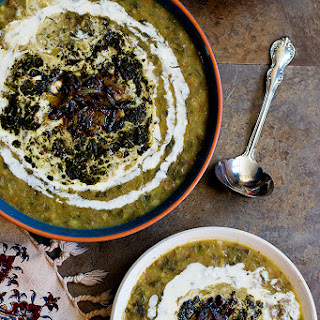 Persian Eggplant Soup - Ash-e Bademjan.
