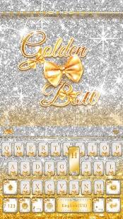 Golden-Bow-Kika-Keyboard-Theme 1
