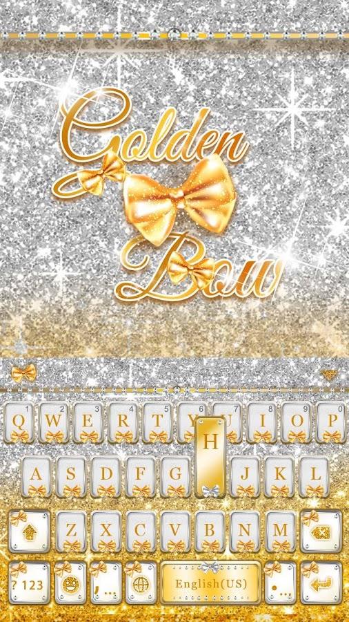Golden-Bow-Kika-Keyboard-Theme 9