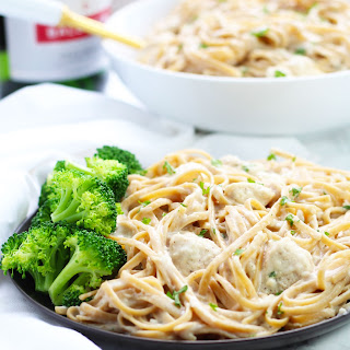 Skinny Chicken Alfredo with Noodles