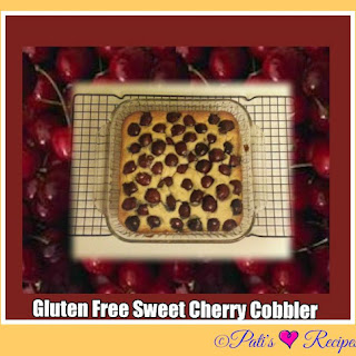 Gluten free Sweet Cherry Cobbler