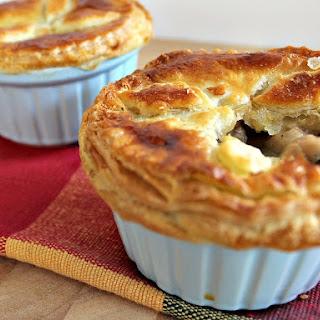 Mini Creamy Chicken Stroganoff Pot Pies