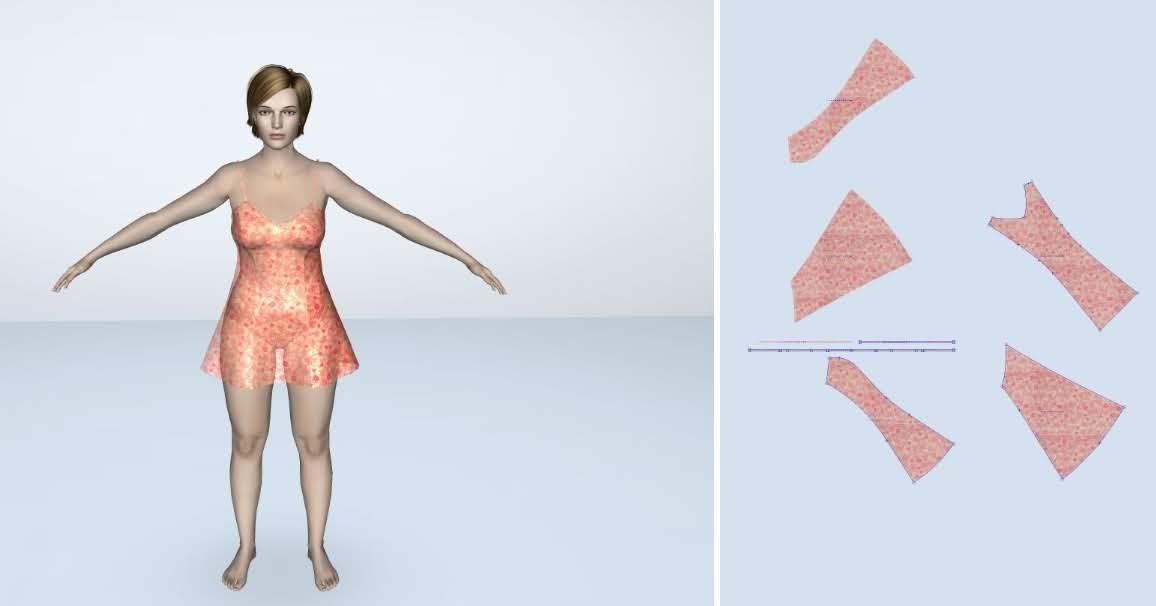 Thiết Kế Thời Trang Lectra Modaris 3D - Đầm Ngủ Quyến Rũ 1