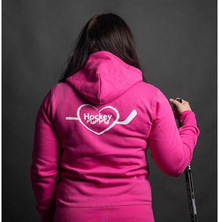 Hoodie - Hockeymamma - rosa