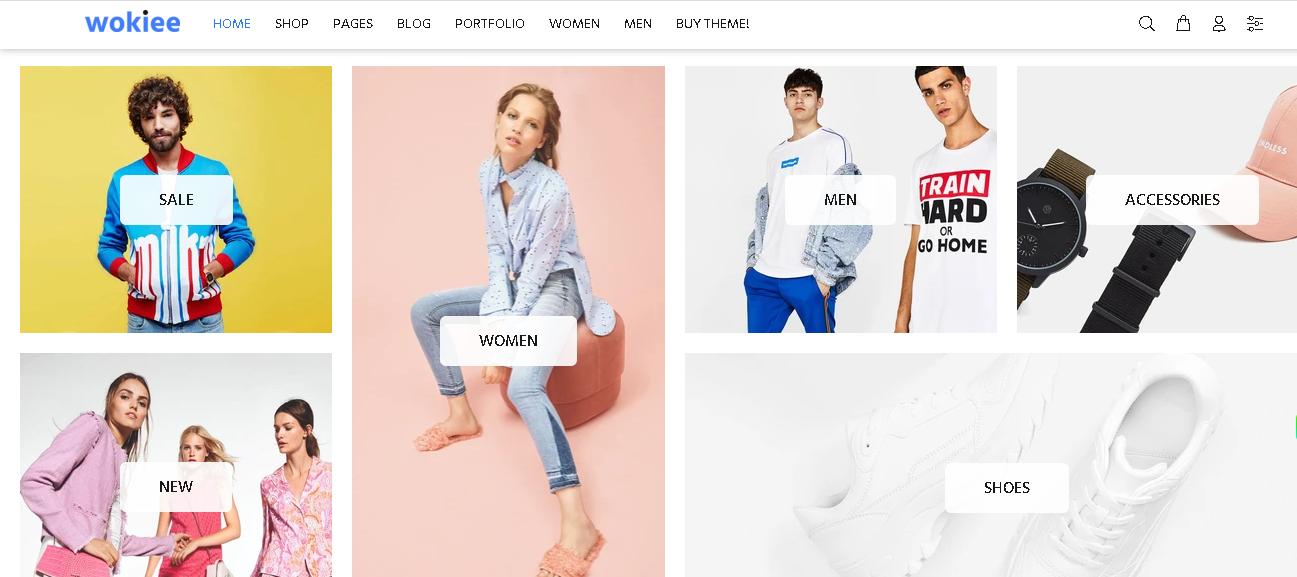 Fashion shopify theme Wokiee