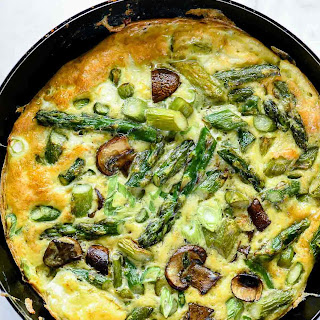 Asparagus and Mushroom Frittata with Goat Cheese Recipe
