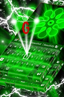 Neon Green Keyboard Téma - náhled