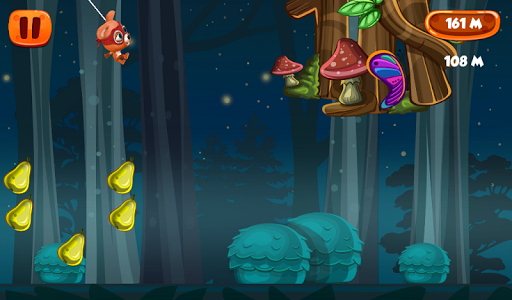 Flying with Rope Bear Game screenshot 6
